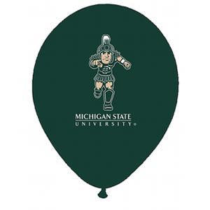 Mayflower 10 pk Latex MSU Balloons