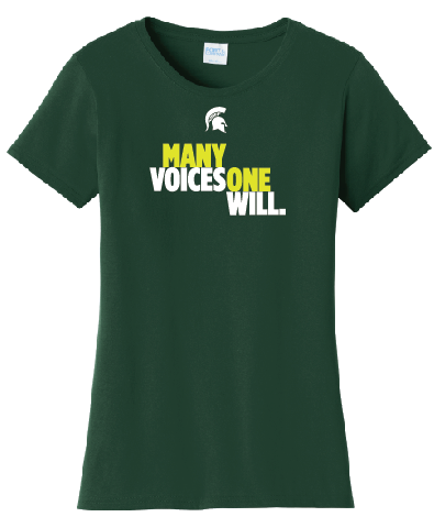 Women's Fan Favorite Green Short Sleeve T-Shirt- Building Inclusive Communities