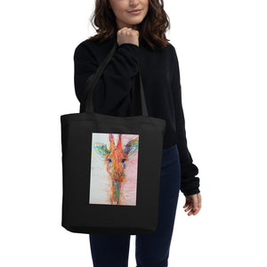 Real Gone Giraffe by Lucia Colella Art Eco Tote Bag