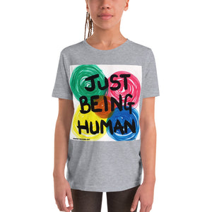 """JUST BEING HUMAN""  Original artwork by Harper Bizarre Art on your Youth T-shirt"