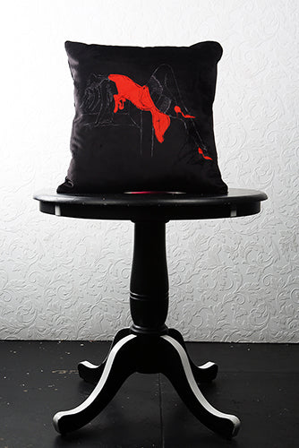 "LADY OF LUST VELVET PILLOW 22"" x 22"" - [collection]"