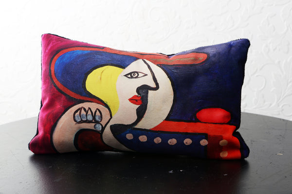 "FEELING MYSELF VELVET PILLOW ""16"" x 10"" - [collection]"