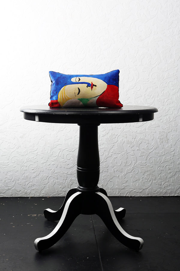 "SITTING SIDEWAYZ VELVET PILLOW 16"" x 10"" - [collection]"
