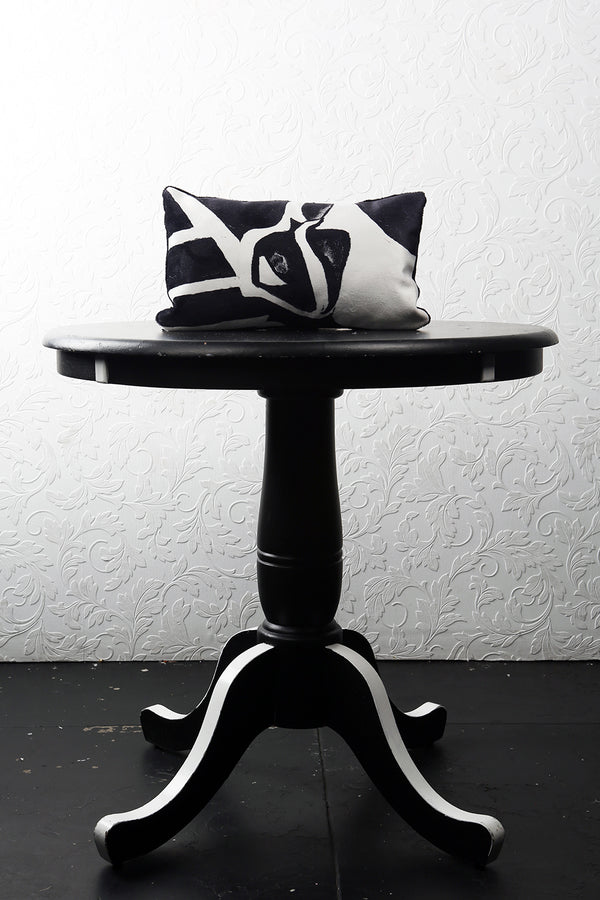 "BLACK OR WHITE VELVET PILLOW 16"" x 10"" - [collection]"