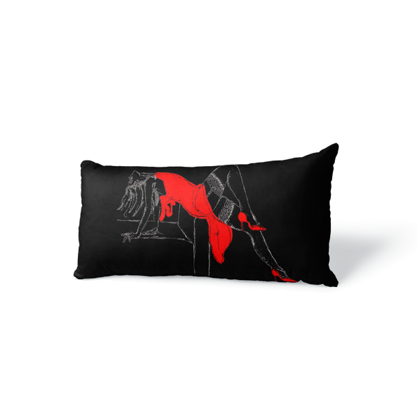"LADY OF LUST VELVET PILLOW 16"" x 10"" - [collection]"