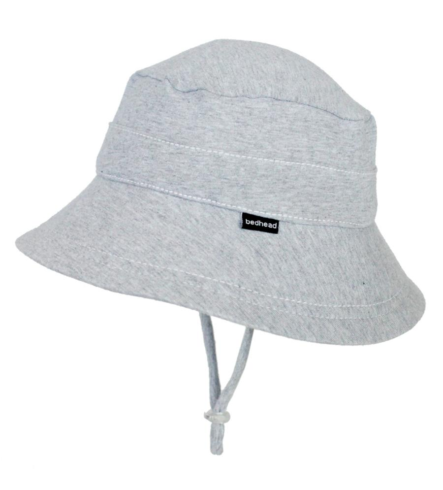 Grey Marl Stretch Bucket Hat Hats Bedhead 2-3 yr