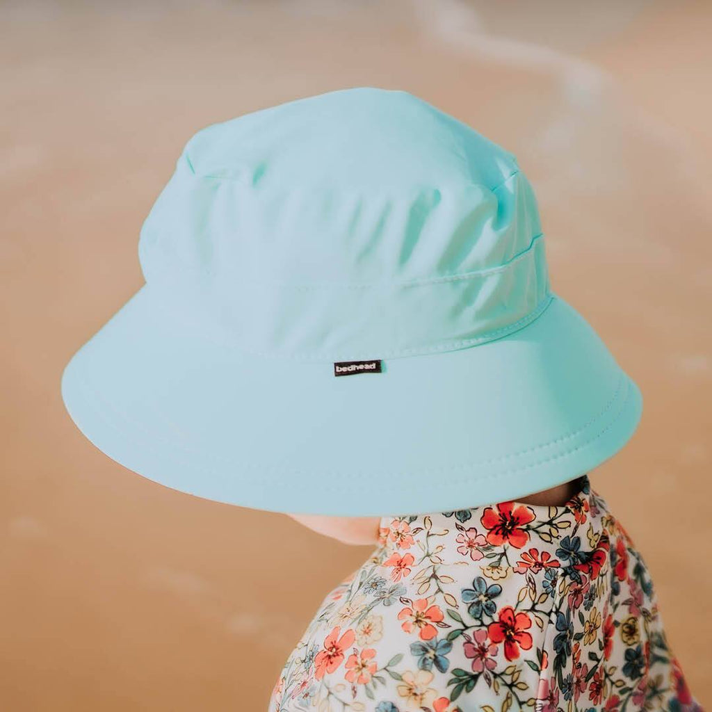 Kids Beach Bucket Hat - Aqua Hats Bedhead