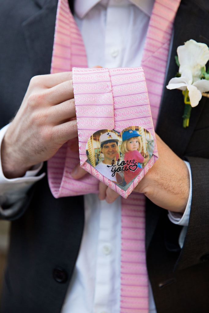 I Love You Embroidered Photo Tie Patch