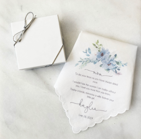 Mother of the Bride Printed Handkerchief