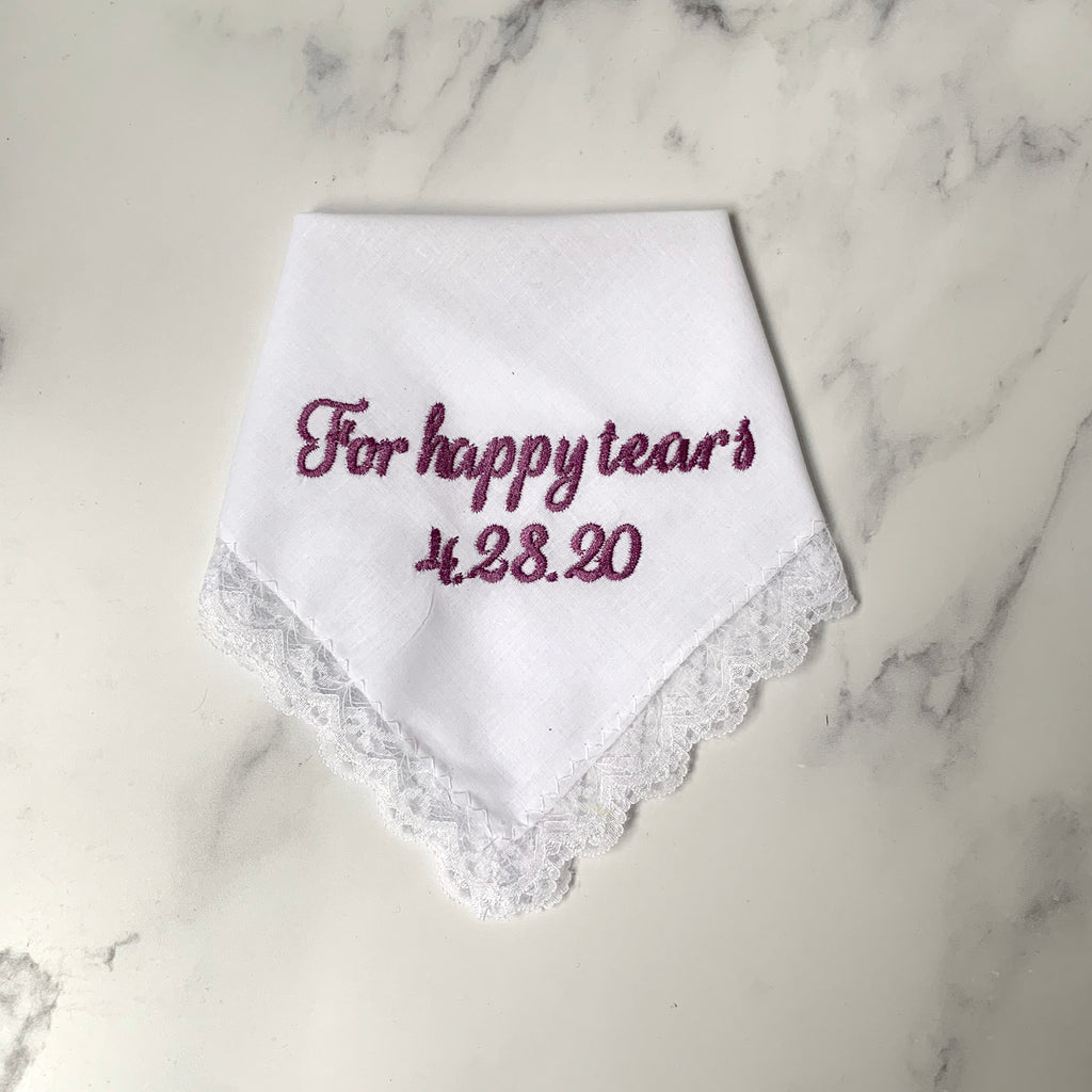 For Happy Tears Handkerchief