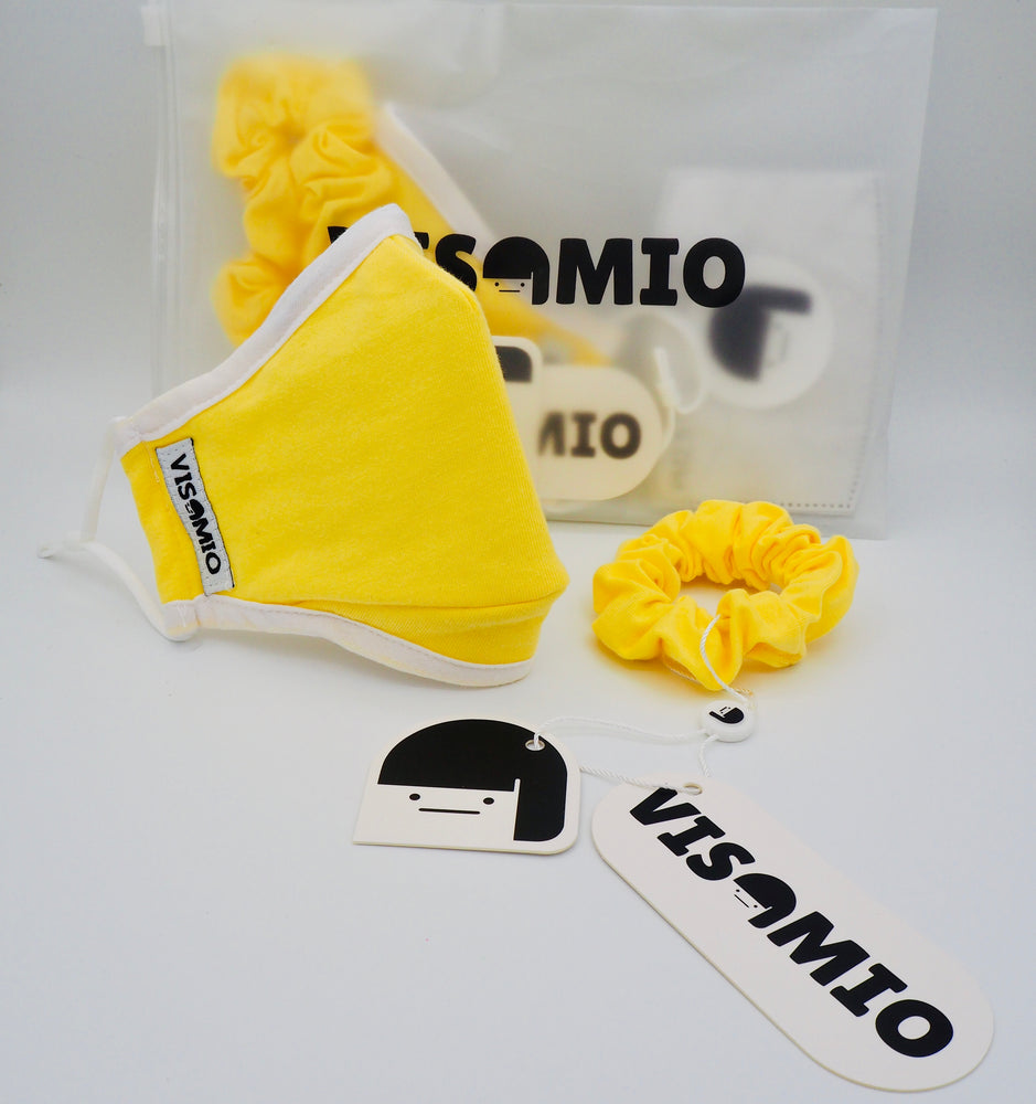 Cotton Face Covering (Lemon)