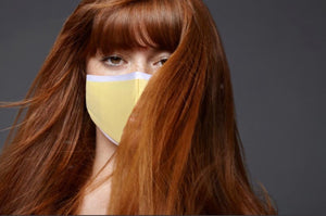 Load image into Gallery viewer, Cotton Face Covering (Lemon)