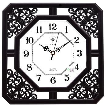 Horloge Vintage Carrée Marron Design