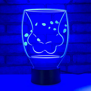 Cute Cat Paw Cup 3D LED Illusion Night Light Lamp