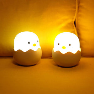 Chicken Egg Silicone USB Night Light Lamp