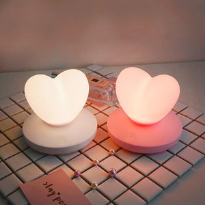 Heart Silicone Mini USB Rechargable Night Light Lamp