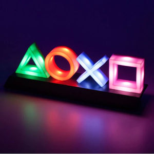 Neon Gaming Button Icon Sign USB Night Light Lamp