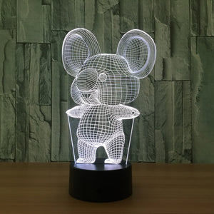 Koala 3D LED Illusion Night Light Lamp