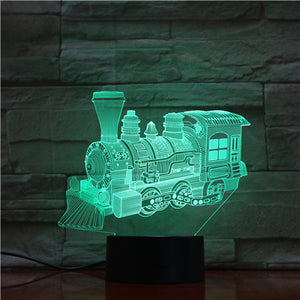 Steam Train 3D LED Illusion Night Light Lamp