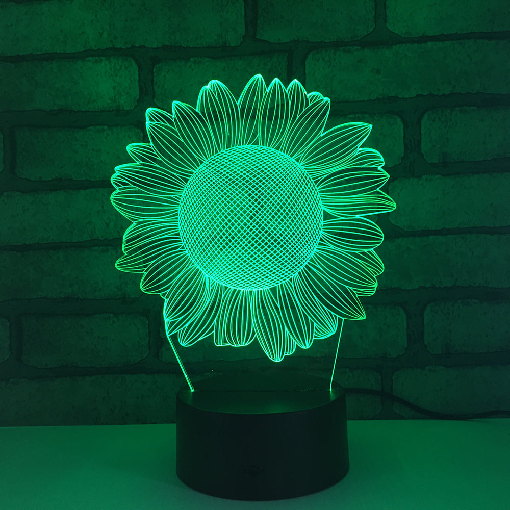Sunflower 3D LED Illusion Night Light Lamp