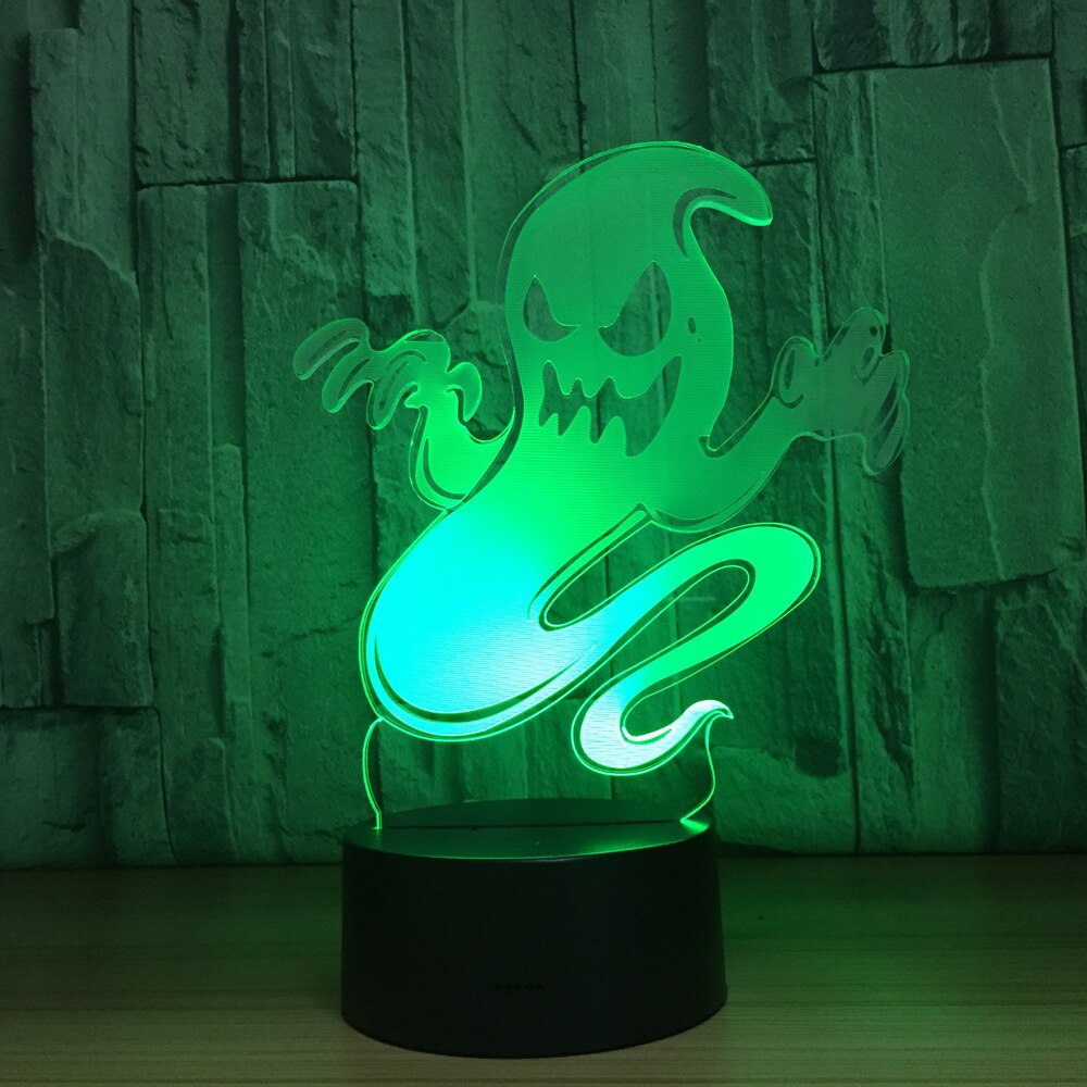 Ghost Ghoul 3D LED Illusion Night Light Lamp