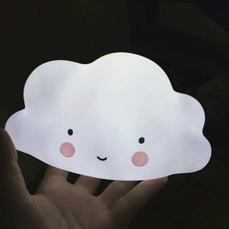 Cloud Silicone Battery Night Light Lamp