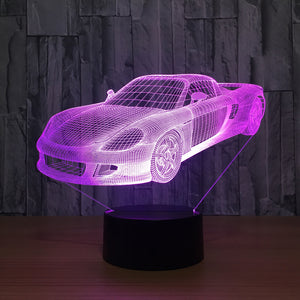 Super Car 3D LED Illusion Night Light Lamp