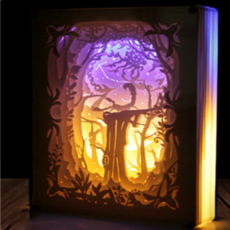 Scorpio Constellation Colorful 3D Paper Carving Night Light Lamp