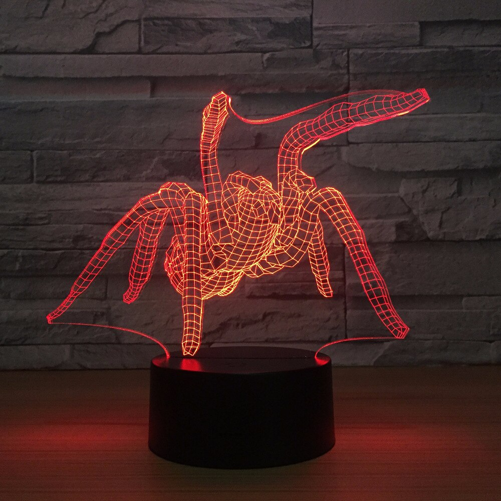 Spider 3D LED Illusion Night Light Lamp