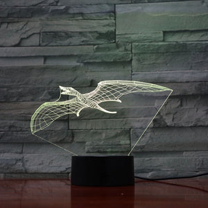 Pterosaur 2 Dinosaur 3D LED Illusion Night Light Lamp