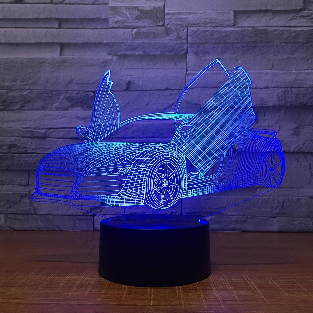 Sports Car 2 3D LED Illusion Night Light Lamp
