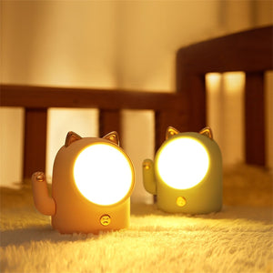 Kawaii Cute Lucky Cat USB Rechargeable Night Light Lamp