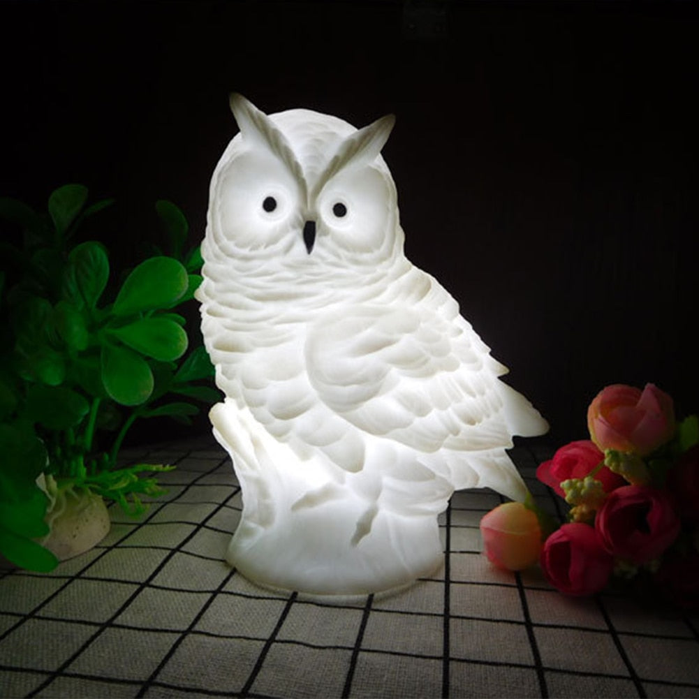 Owl Silicone Battery Operated Night Light Lamp