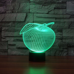 Apple 3D LED Illusion Night Light Lamp