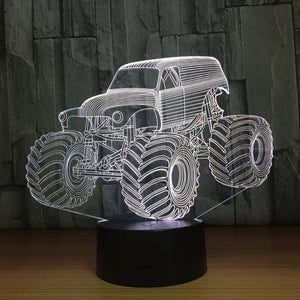 Monster Truck 3D LED Illusion Night Light Lamp