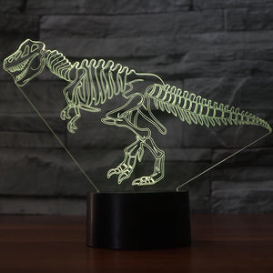 Dinosaur Skeleton 3D LED Illusion Night Light Lamp