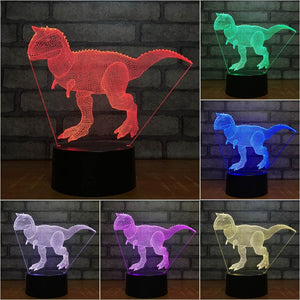 Carnotaurus Dinosaur 3D LED Illusion Night Light Lamp