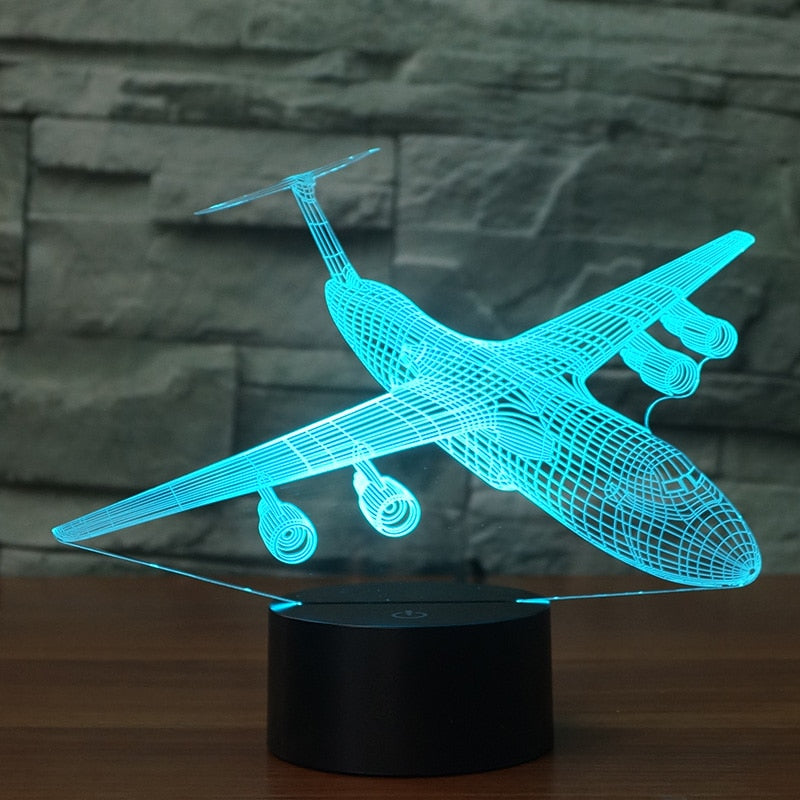 Airplane 2 3D LED Illusion Night Light Lamp