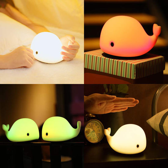 Mini Dolphin Silicone USB Rechargeable Night Light Lamp