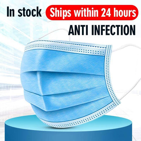 Disposable protective Masks - 3-layer (waterproof)