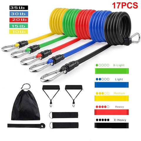 Weight Adjustable Latex Strap Resistance Bands