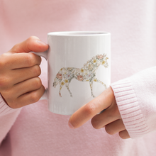 Load image into Gallery viewer, Her Vibe - Floral Horse Coffee Mug