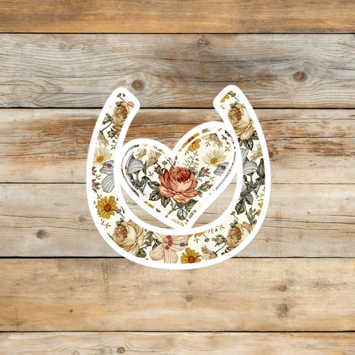 Her Vibe - My Horse Has My Heart Floral Sticker