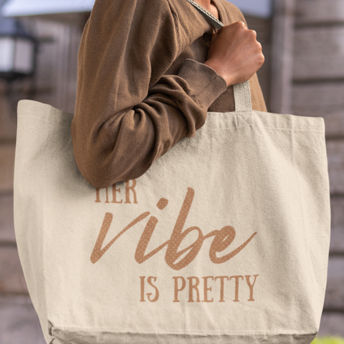 Her Vibe - Large Double Sided Organic Tote