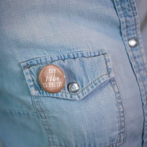 Her Vibe Is Pretty (3 Pack) Pin-Back Buttons