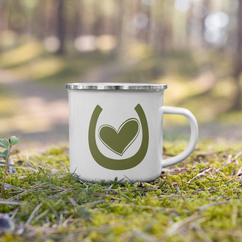 My Horse Has My Heart (Green) - Enamel Mug
