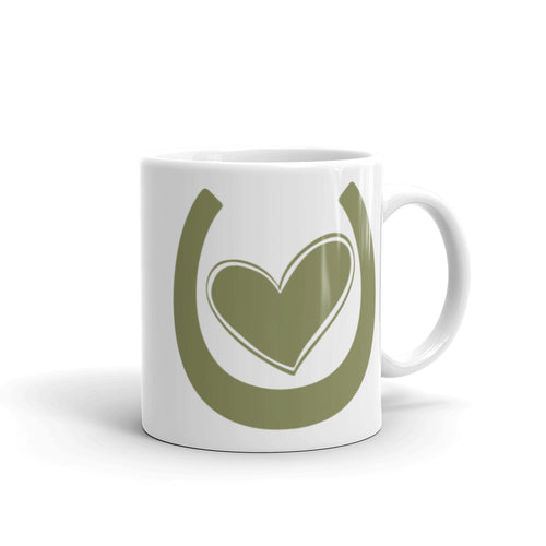 My Horse Has My Heart (Green) - Ceramic Mug