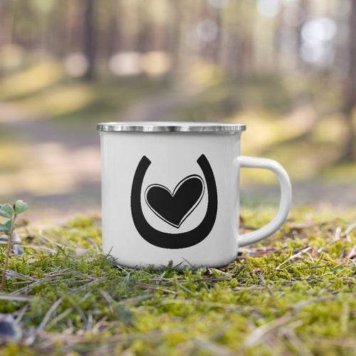 My Horse Has My Heart (Black) - Enamel Mug