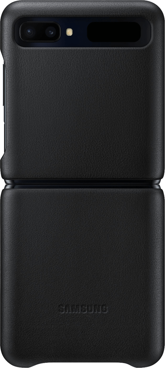 Samsung Leather Cover Samsung Galaxy Z Flip Noir - Samsung - Étuis