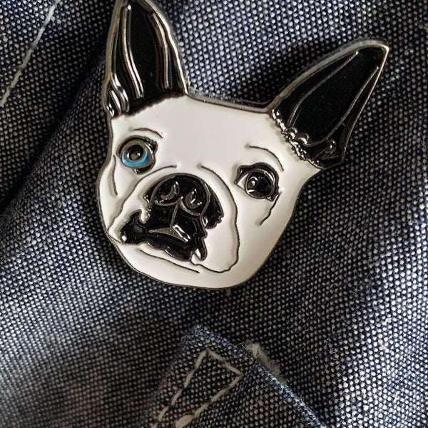 Silver-plated enamel Scabigal pin